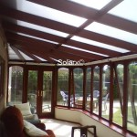 Conservatory Roof with Deluxe Silver Shade Film